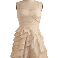 ModCloth Luxe Short Spaghetti Straps A-line Baklava Beauty Dress