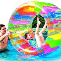 Water Wheel - Giant Inflatable Swimming Pool Water Wheel Toy (49&amp;quot; X 33&amp;quot;)