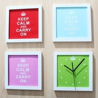 Keep Calm and Carry on Combination Wall Clock/Frame