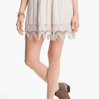 Frenchi® Crochet Trim Skirt (Juniors) | Nordstrom
