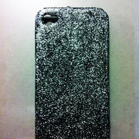 Silver Glitter iPhone 4 4s Hard Cover Case by kaylafenton on Etsy