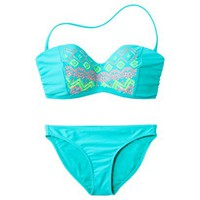 Xhilaration® Junior's 2-Piece Swimsuit -Blue