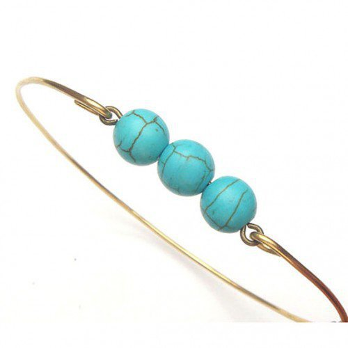 Brass Green Turquoise Bracelet | gemandmetal - Jewelry on ArtFire