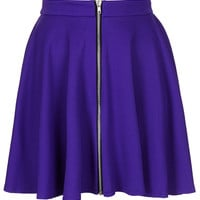 **Zip Front Skater Skirt by Oh My Love - Skirts - Clothing - Topshop