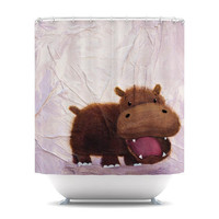 Rachel Kokko &quot;The Happy Hippo&quot; Shower Curtain | KESS InHouse