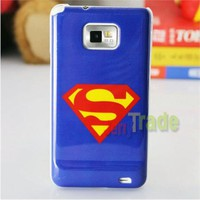 Film Superman Design Type Back Cover Hard Case For Samsung Galaxy S2 I9100 Phone Case Mobile Phone Sets