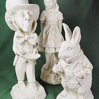 PLASTICLAND - Alice in Wonderland Garden Statues - Set of 3