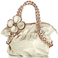 Amazon.com: CANDICE Flower Soft Leatherette Metallic Weaved Double Handle Shoulder Bag Satchel Hobo Purse Handbag