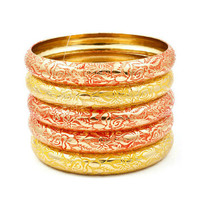Pree Brulee - Moroccan Bangle Set - Sunset