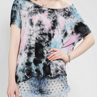Urban Outfitters - Staring At Stars Cropped High/Low Tie-Dye Tee