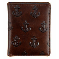 Jack spade | Embossed Anchor Vertical Card Holder