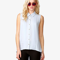 High-Low Pyramid Studded Shirt