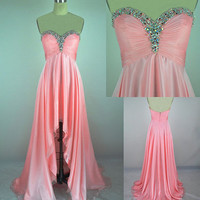 Sweetheart Pink beadings Asymmetrical Prom Dresses  from Dresses 2013