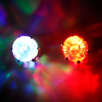 8mm Multi Light-Up LED CZ Stud Earrings | Body Candy Body Jewelry