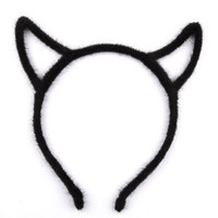 Taobao Hollow horns punk style hair bands hair plush headband devil Orecchiette crown around the cloth hair accessories hair bandsvsrnvtslrqk from English Agent:BuyChina.com