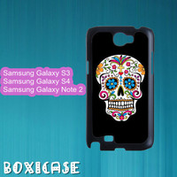 Floral Skull,Sugar skull---Samsung Galaxy S3 Case,Samsung Galaxy S4 Case,Samsung Galaxy Note 2 Case,in plastic