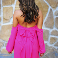 Happily Ever After Bow Dress: Hot Pink | Hope&#x27;s