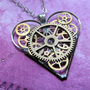 Mechanical Heart Necklace &quot;Magic&quot; Clockwork Gears Heart Steampunk Necklace Clockwork Love Sculpture by A Mechanical Mind Mother&#x27;s Day