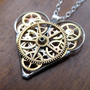 Mechanical Heart Necklace &quot;Muse&quot; Clockwork Gears Heart Steampunk Necklace Clockwork Love Sculpture by A Mechanical Mind Mother&#x27;s Day