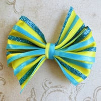 The little Mermaid hair bow Flounder hair clip disney inspired ariel girls teen woman accessories cute