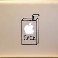 Apple Juice Box Macbook Decal Sticker for Mac Laptop by KrazyKutz