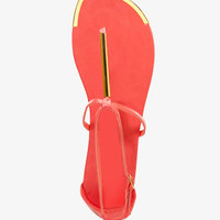 Metal-Trimmed Thong Sandals | FOREVER 21 - 2026149048
