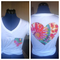 Tiedye heart back tee by AngeliqueMerici on Etsy