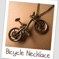 Necklace Bicycle Charm Chain by Bitsofbling on Etsy