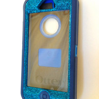 iPhone 5 Otterbox Glitter Cute Sparkly Case Defender Series for Apple iPhone 5 Frost Blue Apatite