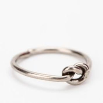 Diament Jewelry for Urban Renewal Vintage Silver Knot Ring