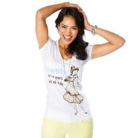 Disney Princess Vintage Fashion V-Neck Belle Tee for Women by Disney Couture | Beauty and the Beast | Disney Store