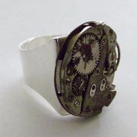 Steam Punk Ring that is Handsome and Fun to by ourchildrensearth