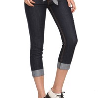Dark Indigo Denim Capri Pants - 10010489