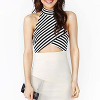 Strapped Stripe Dress