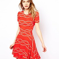 Oasis Dress In Spot Print at asos.com