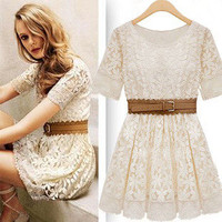 Cultivate one&#x27;s moral character lace dress