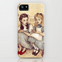 Dorothy and Alice iPhone & iPod Case by Helen Green