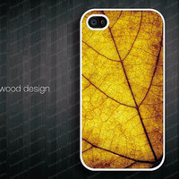 classic old yellow leaf  unique Hard case Rubber case iphone 4 case beautiful iphone 4s case New Iphone 5 case