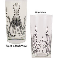 Octopus Zombie glasses - set of 4