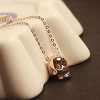 SakuraShop  Cute Skull Head Necklace