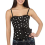 polka dot corset with lace trim and tie waist - 1000043138 - debshops.com