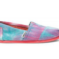 Pink and Blue Tie Dye Youth Classics | TOMS.com
