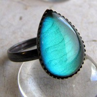 ShanaLogic.com - 100% Handmade  Independent Design! Absinthe Teardrop Ring - New Arrivals