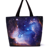 Blue Galaxy Starry Sky Fashion Shoulder Bag For Women  from Galaxy