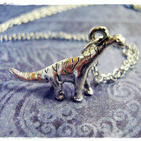 Tiny Brachiosaurus Dinosaur 3D Charm by EvelynMaeCreations on Etsy