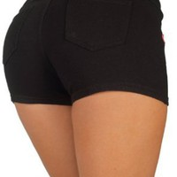 Amazon.com: Basic Short Shorts Premium Stretch French Terry Moleton With a gentle butt lifting stitching - In 10 Colors !!!: Clothing