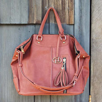 Off Shore Mist Tote in Brown, Sweet Bohemian Totes & Bags
