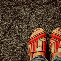 Shoes on Cement by kerbear6156 on Etsy