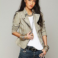 Muubaa  Leather Biker Jacket at Free People Clothing Boutique