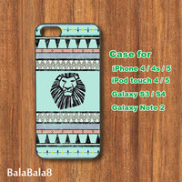 The Lion King, Aztec - iPhone 4 case, iphone 5 Case, iPod touch case, iPod case, Samsung Galaxy S3 case, Galaxy S4 case, Galaxy note 2 case